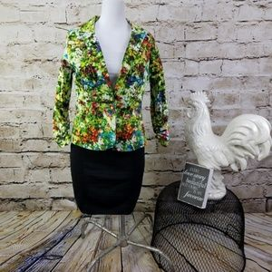 Notations Petites MP Blazer Fitted Botanical Work